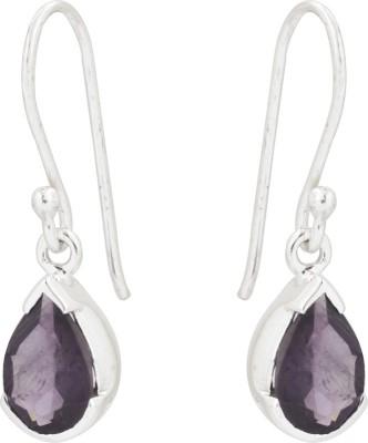 Kashvi Purple Queen Quartz Silver Dangle Earring