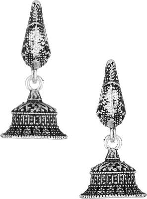 Voylla Artificial Classic Textured Metal Dangle Earring