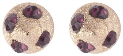 Siyora Classic Pink Brass Stud Earring