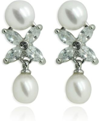 Prisha Passion Trend Pearl Earrings Pearl Copper Drop Earring