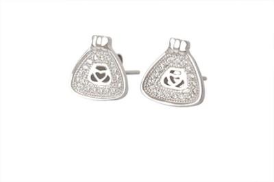 TUAN Stylish Diamond, Cubic Zirconia Sterling Silver Stud Earring