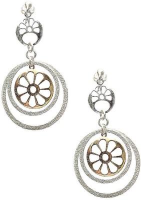 LeCalla Laser Cut Wheel Inspired Sterling Silver Dangle Earring