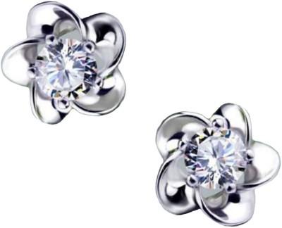 Ruvee De Floral Zircon Alloy Stud Earring