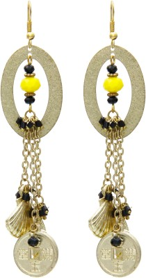 Galz4ever Oval Save Gold Alloy Dangle Earring