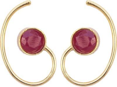 6 Lotus Festive Brass Cuff Earring
