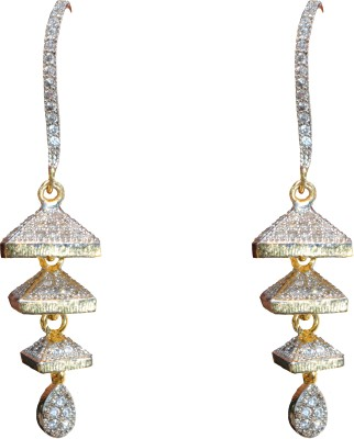JDJ Imitation Jewelleris Three Step love Bali Cubic Zirconia Brass Dangle Earring