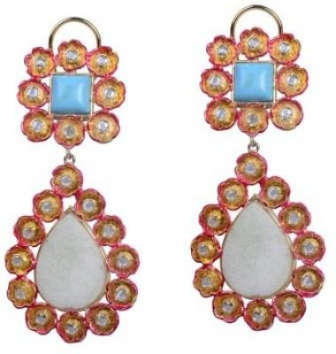 Amalaan Jewels Enamal Work, Ad Brass Drop Earring