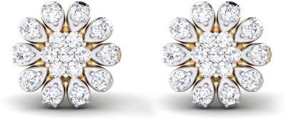 P.N.Gadgil Jewellers Floral Cluster Yellow Gold 18kt Diamond Stud Earring at flipkart