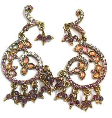 Fusion Jewels Sparkling Stones Jewellery Metal Chandelier Earring