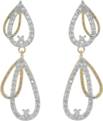Gliteri golden sparkling Brass Drop Earring