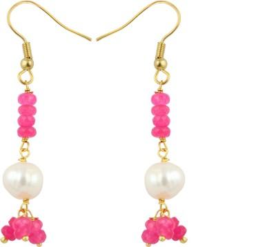 Pearlz Ocean Charming Pearl, Jade Alloy Dangle Earring