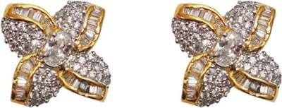 Sheetal Jewellery JCHT42_main Cubic Zirconia Brass, Alloy Stud Earring
