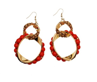 Rhea Merlot Metal Dangle Earring