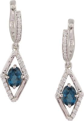 RR FOREVER Gemstone Topaz Silver Huggie Earring