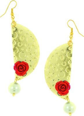 the jewelbox Italian Flower Brass Dangle Earring