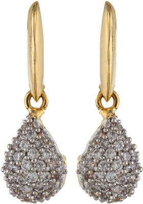 Moda Stella Drop Cubic Zirconia, Zircon Brass Dangle Earring