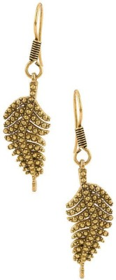 Factorywala Pair Of Leafy Shape On Oxidized Plating Alloy Dangle Earring