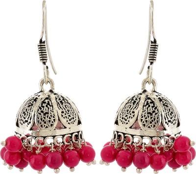 Subharpit Round Hanging Ethnic Beads Metal Jhumki Earring