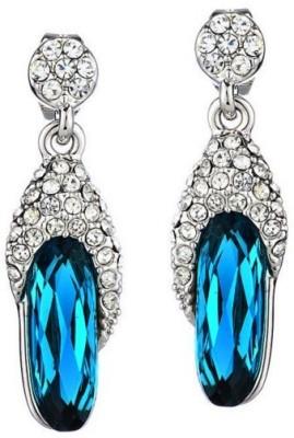 Wearyourfashion Sparkling Crown Droplet Swarovski Zirconia Alloy Dangle Earring