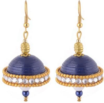 Jyotis Creations Blue Paper Dangle Earring
