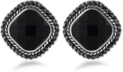 Jazz Jewellery Beautiful Handcrafted Black Stone Studded Earring Alloy Stud Earring