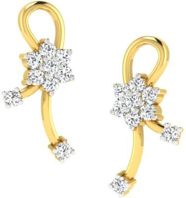 Sparkles T50027D Yellow Gold 18kt Diamond Stud Earring