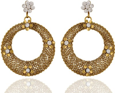 One Stop Fashion Stylish Antique Round Shaped Gold Colour Alloy Earrings Alloy Drop Earring