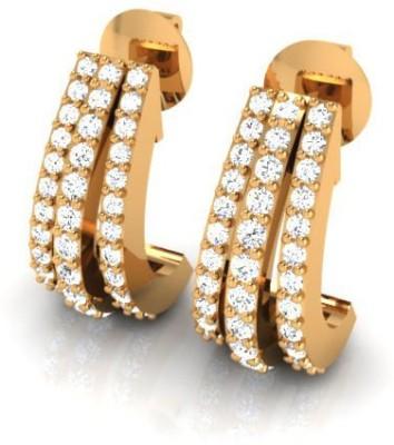 Arkina Diamonds Bali Yellow Gold 18kt Stud Earring