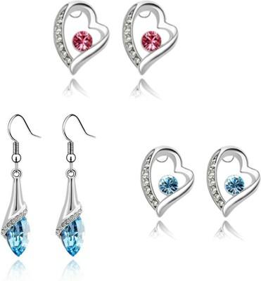 University Trendz UNIV_E026 Crystal Alloy Earring Set