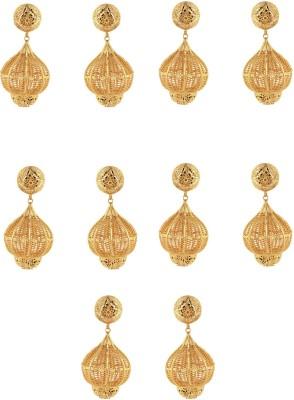 Dubbai Gold Intricate Design Metal Earring Set