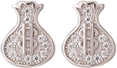 TUAN fancy shaped Cubic Zirconia Sterling Silver Stud Earring