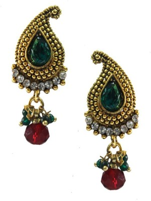 Beingwomen Elegant Gold-Plated With Kundan Studded Fashion Alloy Drop Earring