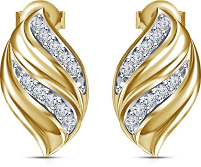 Kirati Fancy Cubic Zirconia Sterling Silver Stud Earring