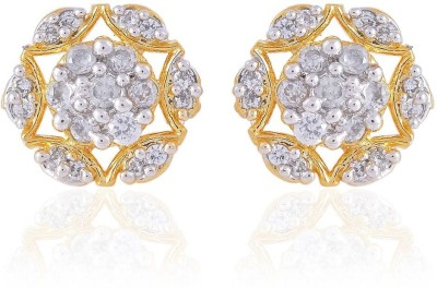 R S Jewels New Fashion Designs Cubic Zirconia Alloy Stud Earring