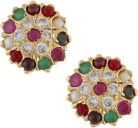 Archi Collection Colour Spark Cubic Zirconia Alloy Stud Earring