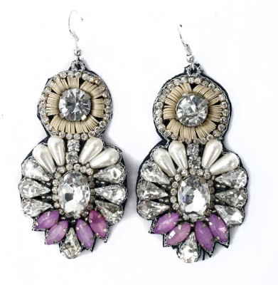 Crenz Handcrafted Ear Ring Fabric Dangle Earring