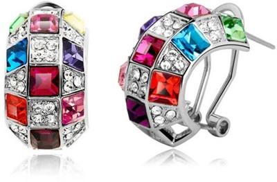 University Trendz Univ_E086 Crystal Alloy Clip-on Earring
