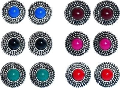 Buyer's Beach Rajasthani-Polki Fancy Multicolor Alloy Earring Set