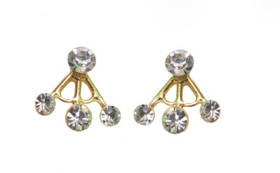 NM Products Classy White Metal Cuff Earring