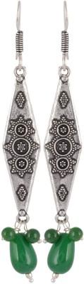 Subharpit Charming Lady Green Choice Beads Metal Dangle Earring