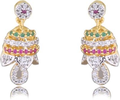Chandrika Pearls Beautiful Cubic Zirconia Copper Jhumki Earring