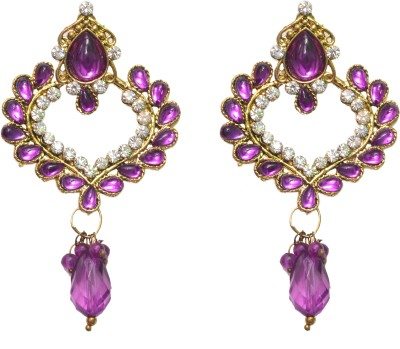 NM Products Purple Alloy Stone Drop Earring