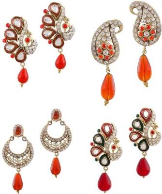 Buyclues RCCJ3410 Crystal Brass Earring Set