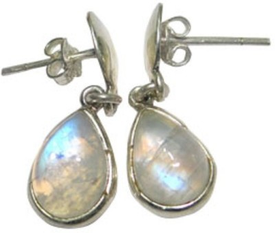 patashi exports moonstone Sterling Silver Drop Earring