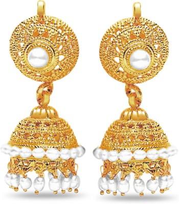 Surat Diamond Euphoric Splendor Pearl Metal Dangle Earring