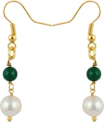 Pearlz Ocean Sumptuous Pearl, Jade Alloy Dangle Earring