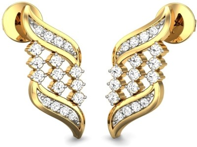Candere Iriss Yellow Gold 14kt Diamond Stud Earring