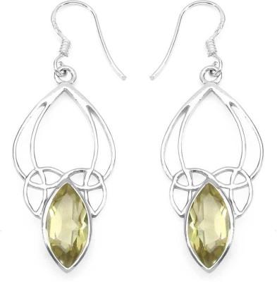 Johareez Fashion Topaz Sterling Silver Dangle Earring