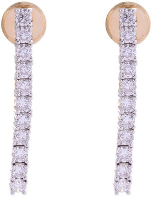 Affinity Jewellers Just like diamonds Cubic Zirconia Alloy Drop Earring