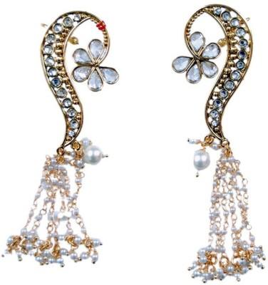 Uzuri Ethnic polki and Kundan Copper Cuff Earring